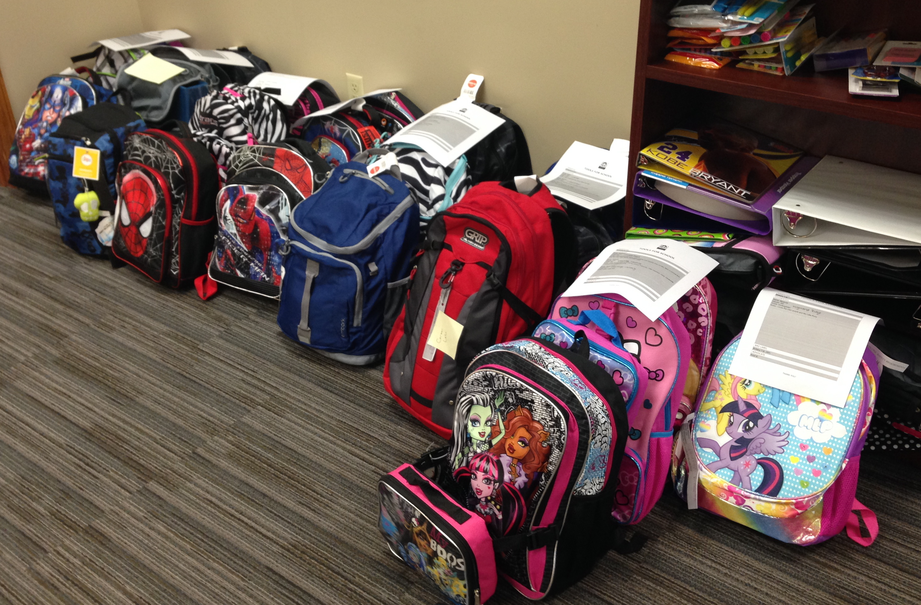272eb3e30c Our awesome residents provided us with enough school supplies for not only  the 22 backpacks we set out to fill